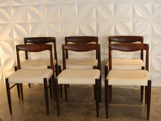Superbe Rosewood Chairs By H.W. Klein For Bramin, 1960s, Set Of 6 1