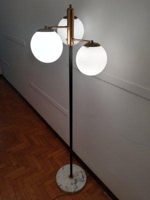 Mid Century Italian 3 Sphere Floor Lamp, 1950s