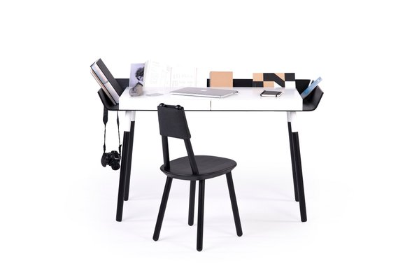 Large My Writing Desk In Black White By Etc For Emko 1
