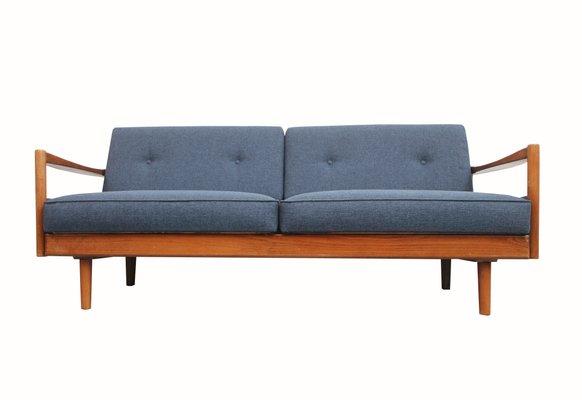 Deutsches 2 Sitzer Sofa In Blau 1960er Bei Pamono Kaufen