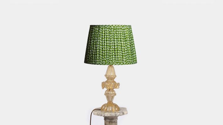 Gold Murano Glass Table Lamp 1950s For Sale At Pamono