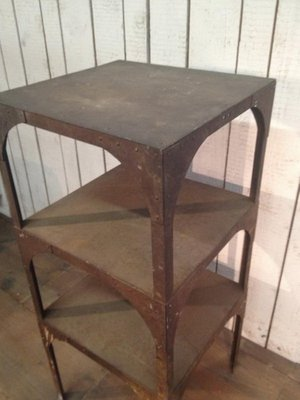 Antique Industrial 3 Tiered Work Table 3