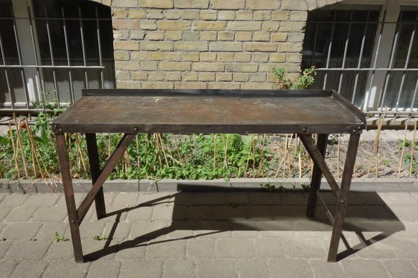 Vintage Industrial Steel Table S For Sale At Pamono - Stain steel table