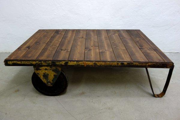 Table Basse Industrielle Vintage, 1970s 1