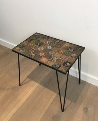 Small Coffee Table In Black Lacquer And