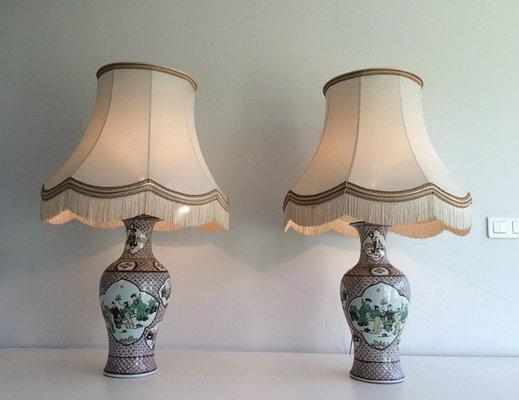 Chinesische Porzellan Lampen 1920er 2er Set Bei Pamono Kaufen