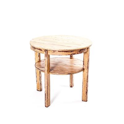 Vintage Round Table With Lower Shelf