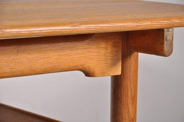 Danish Oak Dining Table By Hans J Wegner For Andreas Tuck 1950s