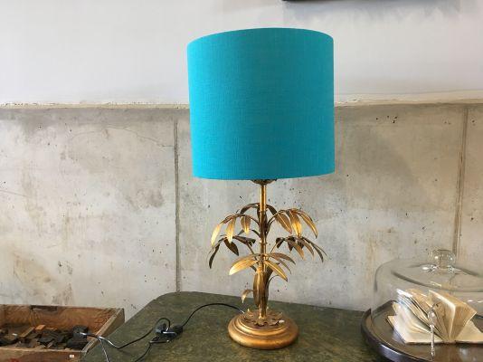 Lampada Fiorentina : Lampada da tavolo fiorentina con foglie dorate anni in