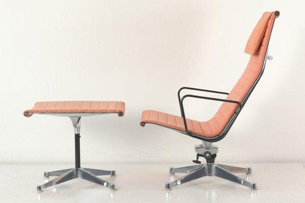 Vintage EA124 Lounge Chair U0026 EA125 Ottoman By Charles Eames 1