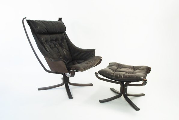 Falcon Lounge Chair And Footstool By