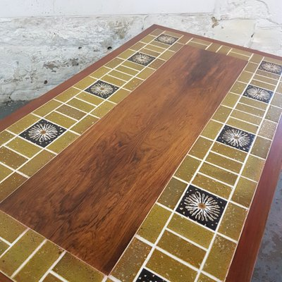 Large Danish Rosewood Tile Coffee Table By Severin Hansen For - 1960s floor tiles