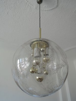 6ef4db2b8b31 Large Hand-Blown Glass Pendant Lamp with Golden Inclusions from Doria  Leuchten
