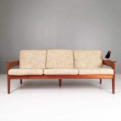 Vintage Danish 3 Seater Teak Sofa By Arne Wahl Iversen For Komfort