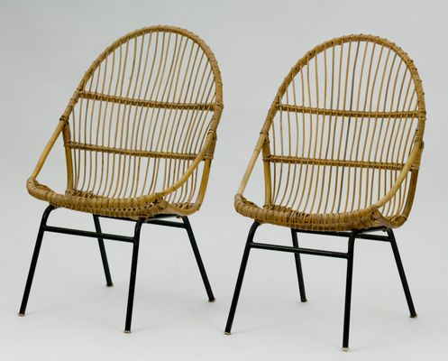 Vintage Rattan Chairs By Alan Fuchs For Úluv, Set Of 2 1