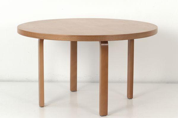 Vintage Round Birch Dining Table By Alvar Aalto For Artek 1