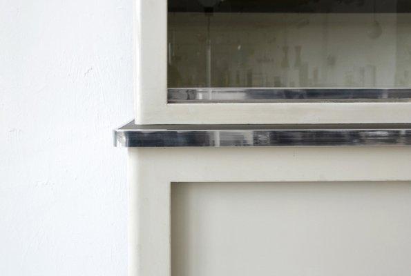 Schrank aus Metall mit Schiebetüren von Mauser Werke Waldeck