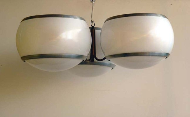 Lampada da soffitto in perspex di stilux italia anni in