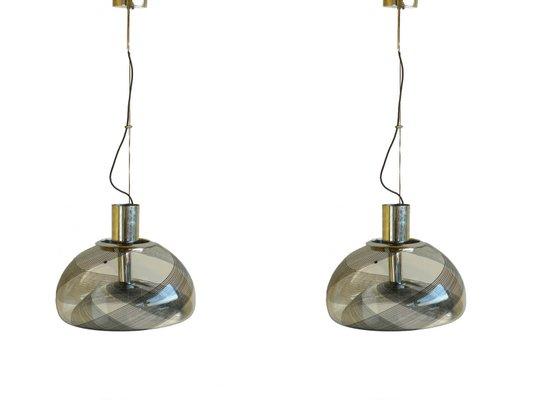 Lampade a sospensione vintage in vetro di Murano di La Murrina ...