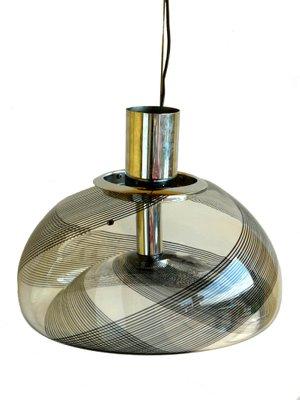 Lampe à Suspensions Vintage En Verre Murano De La Murrina, Italie, Set De 2
