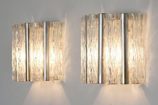 Lampade da parete di kaiser leuchten anni 60 set di 2 in vendita