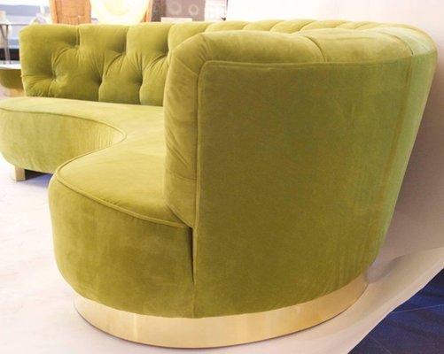 Green Velvet Sofa by Greta Magnusson-Grossman, 1950s