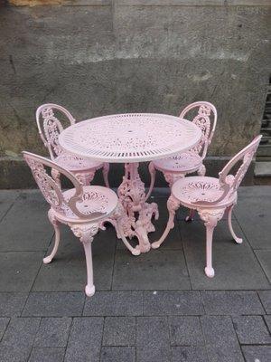 Table de Jardin et 4 Chaises Vintage en vente sur Pamono