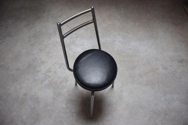 Sedia girevole da laboratorio di charlotte perriand anni 50 in