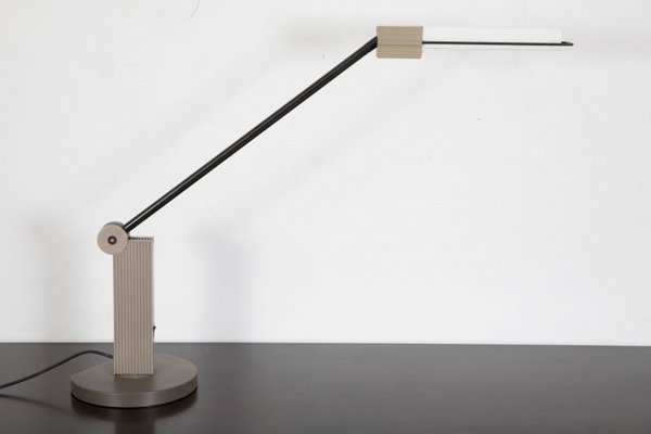 Fluorescent Grey Desk Lamp By Ernesto Gismondi For Artemide 1983