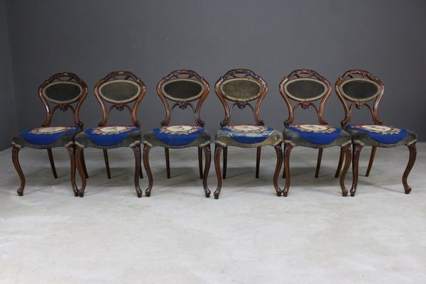 Antique Walnut Dining Chairs from C. Culyer of Holland & Sons, ... - Antique Walnut Dining Chairs From C. Culyer Of Holland & Sons, Set