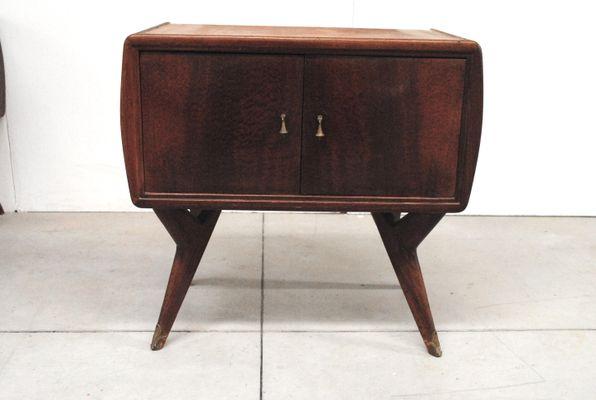Comodini in legno, anni \'50, set di 2 in vendita su Pamono