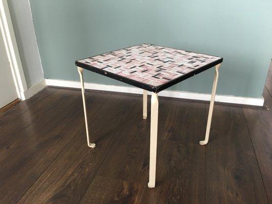 Tavolino con piastrelle in ceramica anni in vendita su pamono