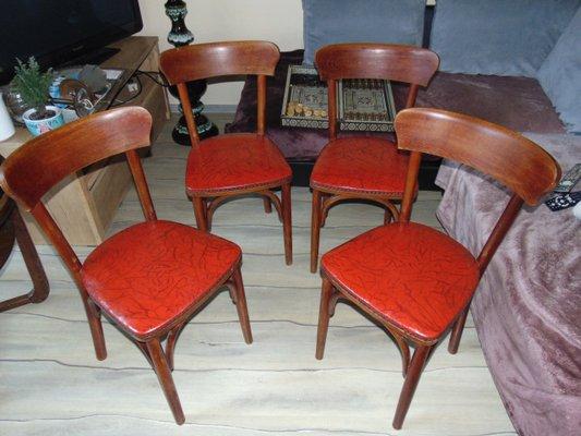 Chaises De Salle A Manger Vintage Set De 4 En Vente Sur Pamono