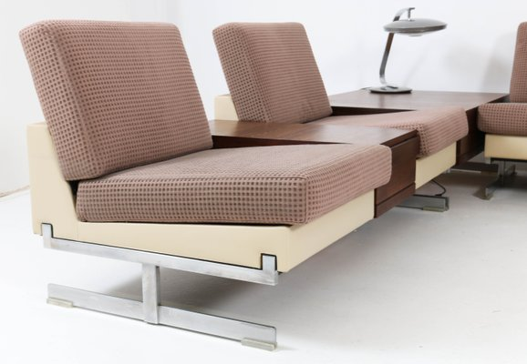 Mid Century Model Pluraform Modern Sofas With Wenge Coffee Tables By Rolf Benz 1964