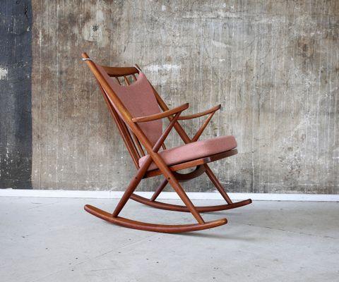Mid Century Danish Rocking Chair By Frank Reenskaug For Bramin 1