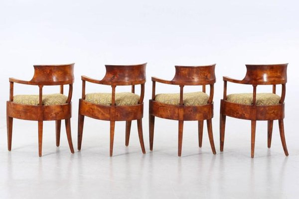 Swedish Biedermeier Chairs, 1820s, Set Of 4 4