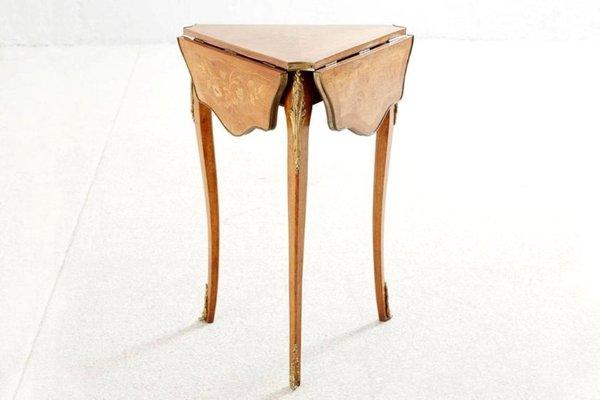 tavolo intarsiato pieghevole xix