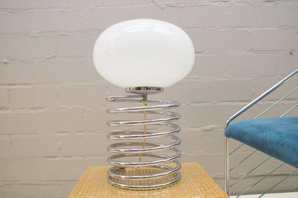 Abat De Ovale Lampe Jour En Avec Opalin Chromée Spirale Bureau Verre NXO8nwkZ0P