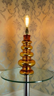 Gold Mercury Glass Table Lamp From Johansfors Glasbruk 1960s For