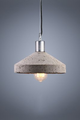 Grey Concrete Rocket Ceiling Lamp By Bogumil Gala For Galaeria Factory For Sale At Pamono