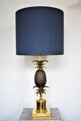 Lampe Laiton Vintage En Grande Et Ananas Bronze N8nwvm0O