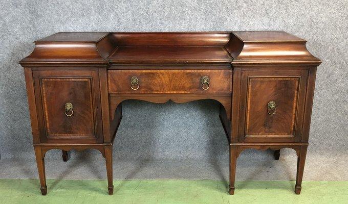 Antique Edwardian Mahogany Desk 1 - Antique Edwardian Mahogany Desk For Sale At Pamono