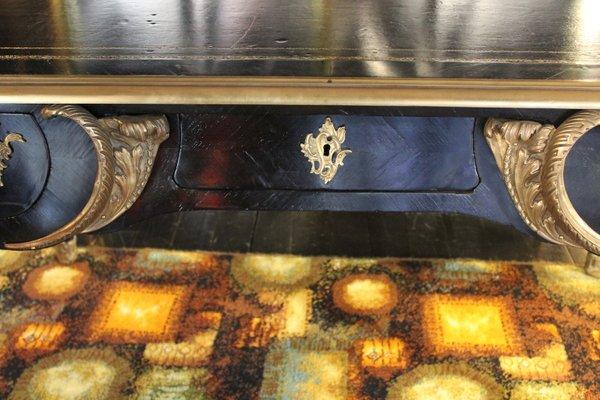Bureau rectangulaire noir et doré napoléon iii s en vente sur
