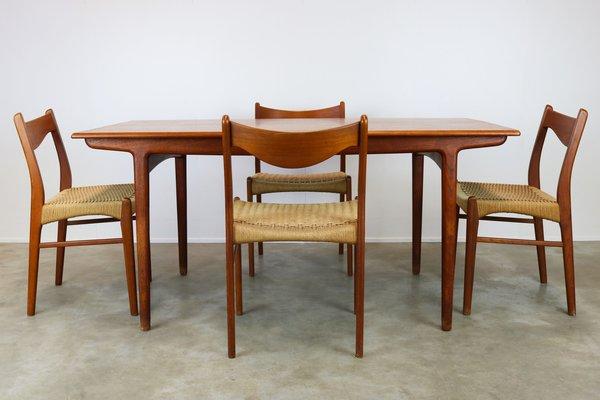 Gentil Danish Dining Set By Ejner Larsen U0026 Aksel Bender For Naestveld Mobelfabrik  U0026 Glyngore Stolefabrik,