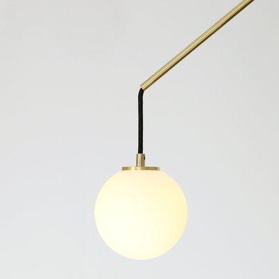 Modern Counterbalance Pendant Lamp In, Brass Pendant Lamp