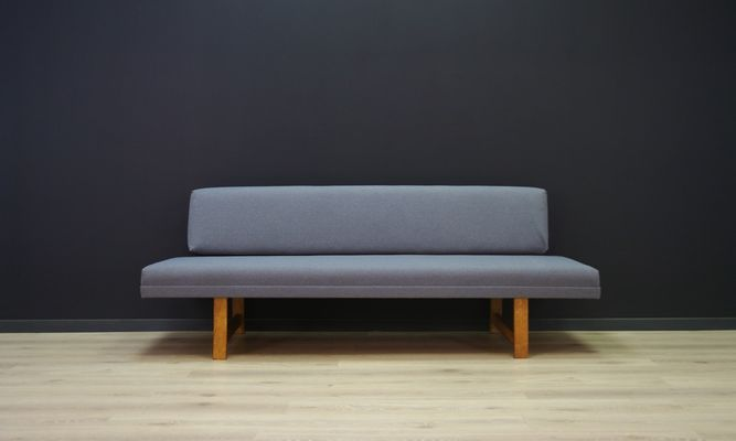Vintage Danish Grey Fabric Sofa 1