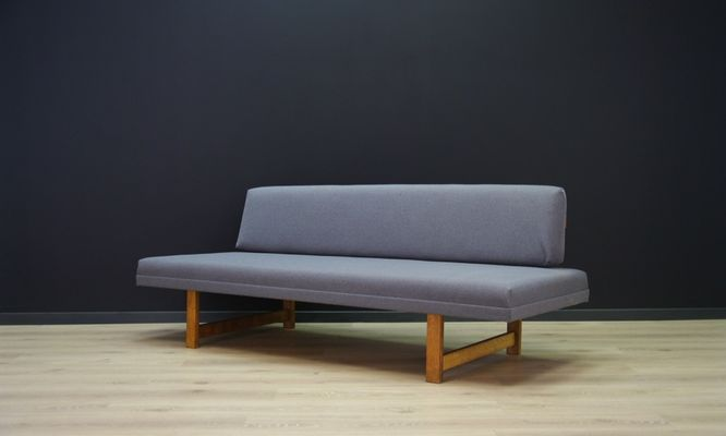 Vintage Danish Grey Fabric Sofa 2