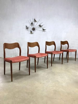 danish model 71 dining chairs by niels o møller for j l møllers