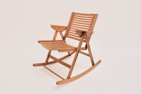 Model Rex Foldable Rocking Chair by Niko Kralj 1950s 1 & Model Rex Foldable Rocking Chair by Niko Kralj 1950s for sale at Pamono