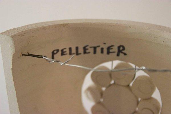 Applique in ceramica di georges pelletier anni set di in